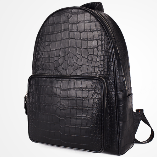 PEACAN LEATHER BACKPACK - CROC